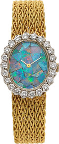 Timepieces:Wristwatch, Rolex, Ladies Opal Mosaic Ref. 8323, 14k Yellow Gold and Diamonds, Circa 1950's. ...