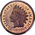 Proof Indian Cents, 1877 1C PR65+ Red and Brown PCGS. CAC....