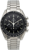 Timepieces:Wristwatch, Omega, Speedmaster Professional, Ref. 145022-69 ST, Rare Straight Writing Case Back, Circa 1969. ...