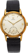 Timepieces:Wristwatch, Omega, Vintage Rose Gold Gent's Wristwatch, circa 1944. ...