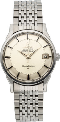 Omega, Steel Constellation Automatic Chronometer, Pie Pan Dial