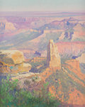 Western, Curt Walters (American, b. 1950). Canyon Sunset. Oil on canvas. 30 x 24 inches (76.2 x 61.0 cm). Signed lower left: Cu...