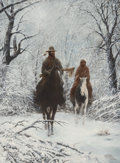 Western, Chuck DeHaan (American, b. 1933). New Snow, 1980. Oil on board. 24 x 18 inches (61.0 x 45.7 cm). Signed and dated lower ...