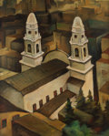 Fine Art - Painting, American, Otis Oldfield (American, 1890-1969). Guadalupe from Russian Hill Park (Green and Leavenworth), San Francisco, 1940. Oil ...
