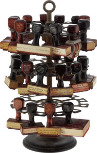 William (Bill) Gaines' Rubber Stamp Tree with 27 Stamps.... (Total: 28 Items)