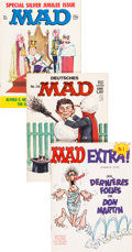 Magazines:Mad, MAD Foreign Editions Box Lot (EC, 1980s-90s) Condition: Average VF/NM....