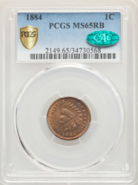 1884 1C MS65 Red and Brown PCGS. CAC. PCGS Population: (99/15 and 0/0+). NGC Census: (109/27 and 0/0+). CDN: $450 Whsle...