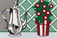 Roy Lichtenstein (1923-1997) Still Life with Pitcher and Flowers, from Six Still Lifes, 1974