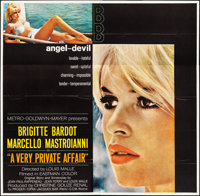 "A Very Private Affair (MGM, 1962). Folded, Very Fine. Six Sheet (80"" X 79""). Foreign"