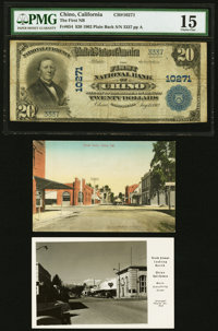 Chino, CA - $20 1902 Plain Back Fr. 654 The First National Bank Ch. # 10271 PMG Choice Fine 15. ... (Total: 3 items)