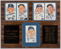 Autographs:Post Cards, New York Yankees Hall of Famers Signed Perez-Steele Postcard Display (4 Signatures)....