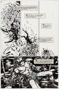 Original Comic Art:Panel Pages, Barry Windsor-Smith Giant Size Rune #1 Story Page 7 Original Art (Malibu, 1995)....