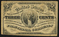 Fractional Currency:Third Issue, Fr. 1226 3¢ Third Issue About New.. ...