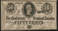 Confederate Notes:1864 Issues, T72 50 Cents 1864 PF-2 Cr. 579 Choice About Uncirculated.. ...