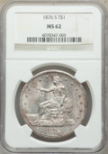 Trade Dollars: , 1876-S T$1 MS62 NGC. NGC Census: (151/211). PCGS Population: (183/255). MS62. Mintage 5,227,000. ...