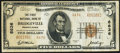 National Bank Notes:Pennsylvania, Bridgeville, PA - $5 1929 Ty. 2 The First National Bank Ch. # 6636 Fine.. ...