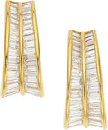 Estate Jewelry:Earrings, Diamond, Gold Earrings, Adler . ...