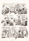 """Original Comic Art:Complete Story, Jack Rickard Mad #203 Complete 2-page Story """"A Mad Look at the 'Clorox' Commercial"""" Original..."""