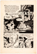 """Original Comic Art:Splash Pages, Russ Manning (as Orcutt) Undocumented Pre-Code Horror Title """"The Undying Beast"""" Splash Page ..."""