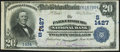 National Bank Notes:West Virginia, Parkersburg, WV - $20 1902 Date Back Fr. 642 The Parkersburg National Bank Ch. # (S)1427 Very Fine-Extremely Fine.. ...