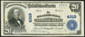 National Bank Notes:Pennsylvania, Blairsville, PA - $20 1902 Plain Back Fr. 656 The Blairsville National Bank Ch. # 4919 Very Fine-Extremely Fine.. ...