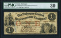 Obsoletes By State:Iowa, Dubuque, IA- The Dubuque Central Improvement Company $1 Feb. 27, 1858 PMG Very Fine 30.. ...