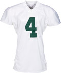 Football Collectibles:Uniforms, 2001 Brett Favre Thanksgiving Day Game Worn Green Bay Packers Jersey - Photo Matched to 11/22 vs. Lions. ...