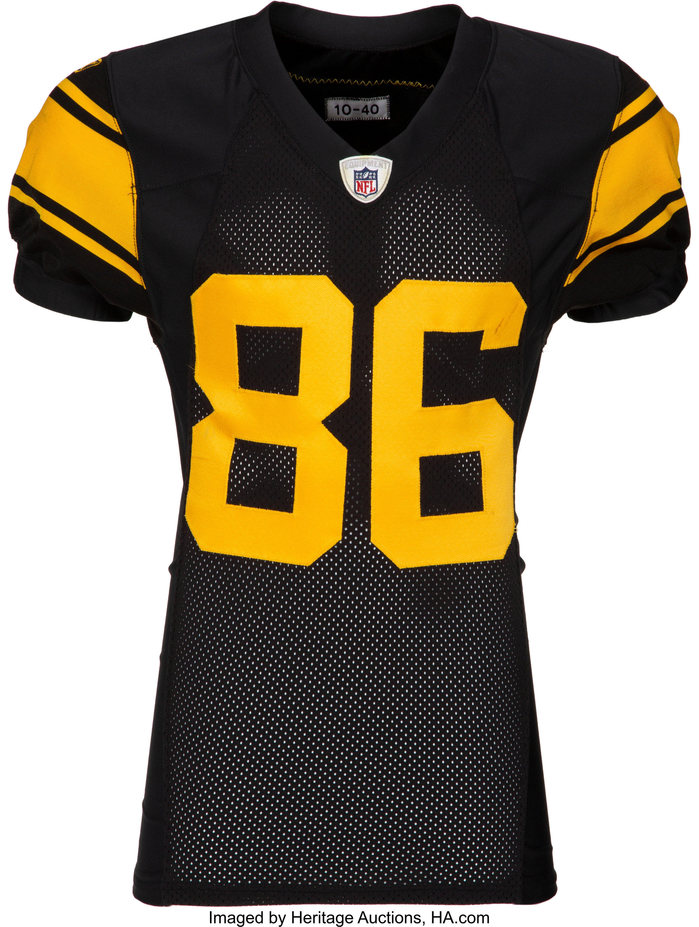 premium selection 1ad8e e57b7 2010 Hines Ward Game Worn & Signed Pittsburgh Steelers Jersey -   Lot  #53083   Heritage Auctions