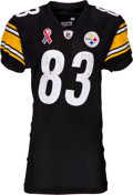 Football Collectibles:Uniforms, 2011 Heath Miller Worn & Signed Pittsburgh Steelers Jersey - Used 9/11 vs. Ravens (9/11 Memorial Patch)! ...