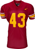 Football Collectibles:Uniforms, 2001 Troy Polamalu Game Worn & Signed USC Trojans Jersey. ...