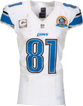 Football Collectibles:Uniforms, 2012 Calvin Johnson Game Worn & Unwashed Detroit Lions Jersey - Photo Matched to 12/16 vs. Cardinals!...