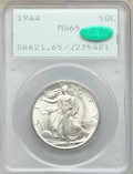 Walking Liberty Half Dollars: , 1944 50C MS65 PCGS. CAC. PCGS Population: (5116/1548). NGC Census: (3306/1011). MS65. Mintage 28,206,000. ...