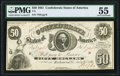 T8 $50 1861 PF-2 Cr. 15 PMG About Uncirculated 55