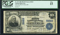 Eveleth, MN - $10 1902 Plain Back Fr. 633 The First National Bank Ch. # 5553 PCGS Fine 15