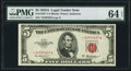 Small Size:Legal Tender Notes, Fr. 1533* $5 1953A Legal Tender Star Note. PMG Choice Uncirculated 64 EPQ.. ...