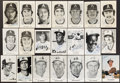 Autographs:Post Cards, Atlanta Braves, California Angels & Montreal Expos Signed Collection (21)....