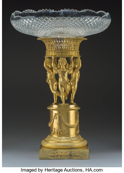 A Napoleon Iii Style Gilt Bronze Figural Stand With Cut
