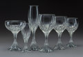 Glass, A Seventy-Two-Piece Baccarat Massena Pattern Glass Stemware Service for Twelve, post-1975. Marks: BACCARAT, ... (Total: 72 Items)
