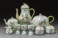 Ceramics & Porcelain, A Five-Piece Herend Rothschild Bird Pattern Porcelain Coffee and Tea Set, 20th century. Marks to coffee pot: H... (Total: 9 Items)