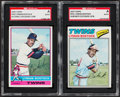 Autographs:Sports Cards, 1976 & 1977 Topps Lyman Bostock Signed Baseball Cards SGC Authentic. ...