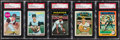 Autographs:Sports Cards, 1969-75 Topps Bob Moose Signed Baseball Card Lot of 5....