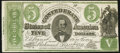 Confederate Notes:1861 Issues, CT33/250G Counterfeit $5 1861 Very Fine.. ...