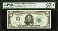 Small Size:Federal Reserve Notes, Fr. 1968-L* $5 1963A Federal Reserve Star Note. PMG Superb Gem Unc 67 EPQ*.. ...