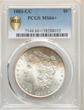 Morgan Dollars, 1883-CC $1 MS66+ PCGS. PCGS Population: (2442/232 and 434/23+). NGC Census: (1020/131 and 72/8+). CDN: $530 Whsle. Bid for ...