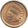 1864 1C Bronze No L MS66 Red and Brown PCGS. PCGS Population: (37/0). NGC Census: (69/5). CDN: $700 Whsle. Bid for probl...