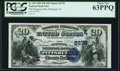 National Bank Notes:Pennsylvania, Pittsburgh, PA - $20 1882 Date Back Fr. 552 The Duquesne National Bank Ch. # (E)2278 PCGS Choice New 63PPQ.. ...