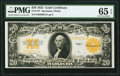Large Size:Gold Certificates, Fr. 1187 $20 1922 Gold Certificate PMG Gem Uncirculated 65 EPQ.. ...