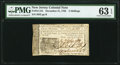 New Jersey December 31, 1763 3s PMG Choice Uncirculated 63 EPQ