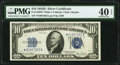 Small Size:Silver Certificates, Fr. 1705* $10 1934D Wide Silver Certificate Star. PMG Extremely Fine 40 EPQ.. ...