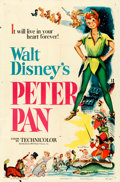 """Movie Posters:Animation, Peter Pan (RKO, 1953). Folded, Fine+. One Sheet (27"""" X 41"""").. ..."""